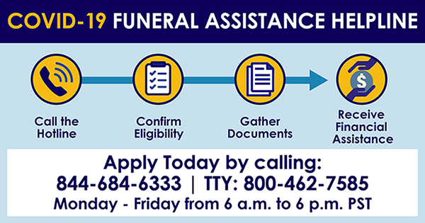 COVID-19 Funeral Assistance Helpline